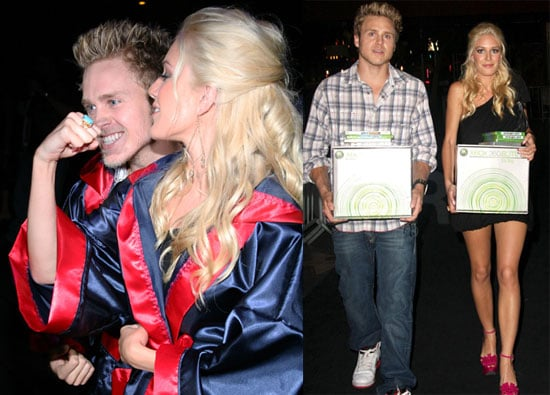 Photos of Heidi Montag and Spencer Pratt Playing Facebreaker, Winning X-Boxes