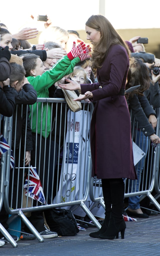 Kate Middleton chatted to the crowd at the Newcastle Civic Centre.