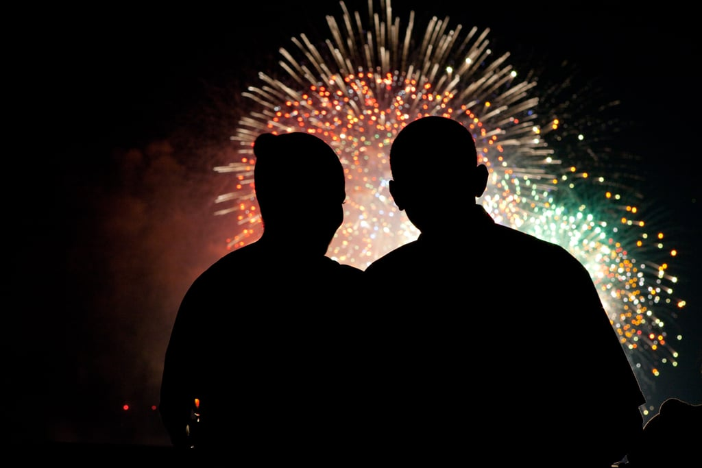In 2009, the Obamas took in Washington DC's fireworks.
