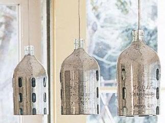 Cool Idea: 1930s Vintage Seltzer Pendant Lamps