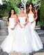 Kim decked her bridesmaids — sisters Khloé and Kourtney — in their own white Vera Wang gowns.