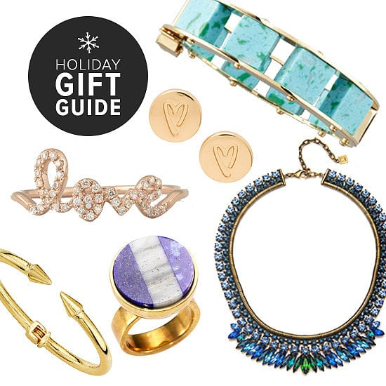 As one of the most popular gifts to give and get, jewelry has a special spot in the heart of holiday shoppers. Whether you're out searching for someone or crafting your own wish list, POPSUGAR Fashion is helping you weed through the field by selecting our favorite bits and baubles. Click through to find the prettiest necklaces, earrings, rings, and more, all broken down by budget.