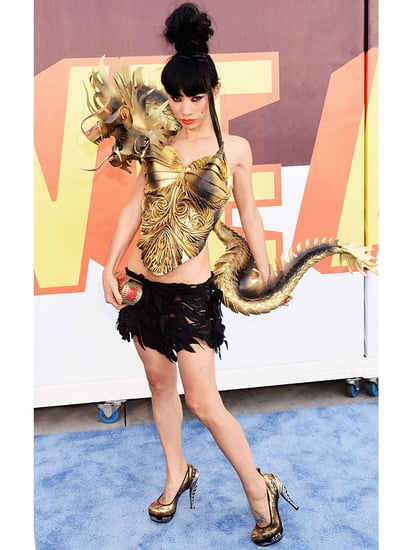 Bai Ling Wears a Dragon on Her Outfit to MTV Movie Awards, Calls It Her 'Boyfriend'