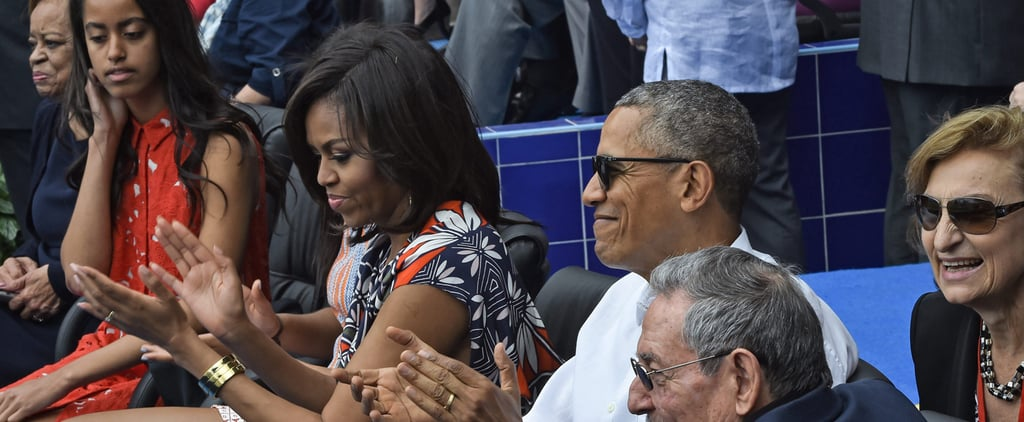 Take the Obamas Out to the Ball Game —in Very Stylish Sundresses