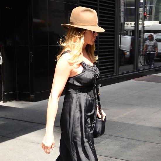Jennifer Aniston Wearing a Slipdress and Trainers