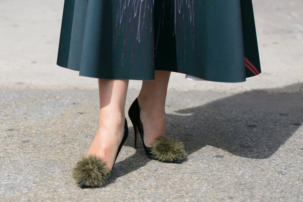 Why not update your everyday pumps with pom-poms?
