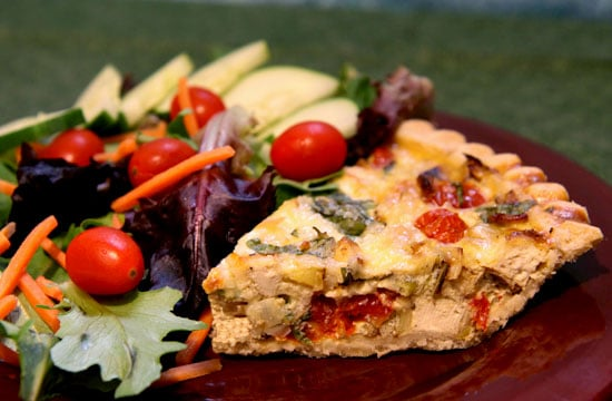 Recipe For Tofu, Tomato, and Basil Quiche