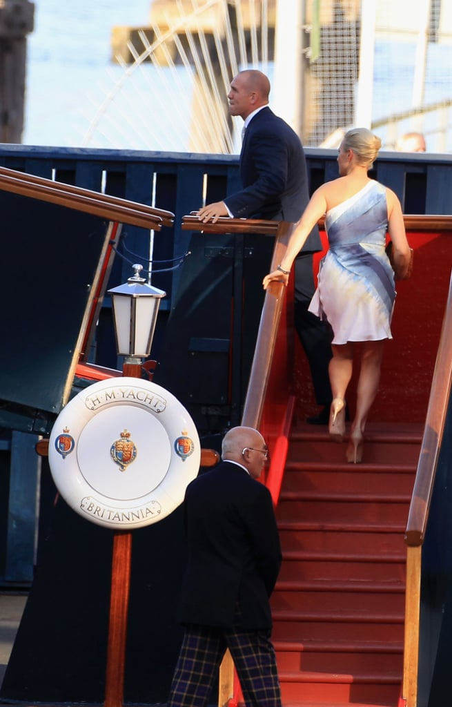 William and Kate Get Mike and Zara's Wedding Party Started on a Boat!