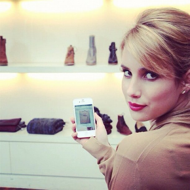 "Emma Roberts took photos of her ""fashion wish list."" Source: Instagram user emmaroberts6"