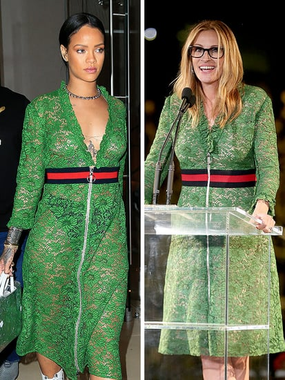 Let Rihanna and Julia Roberts Show You How to Wear the Same Gucci Dress Two Very Different Ways