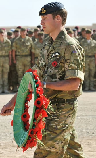 Pictures of Prince William on Remembrance Day in Afghanistan