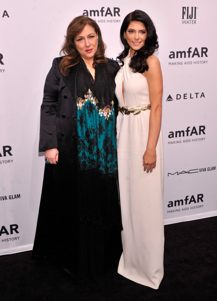 Lorraine Schwartz and Ashley Greene smiled for photos at the amfAR Gala in NYC in February.