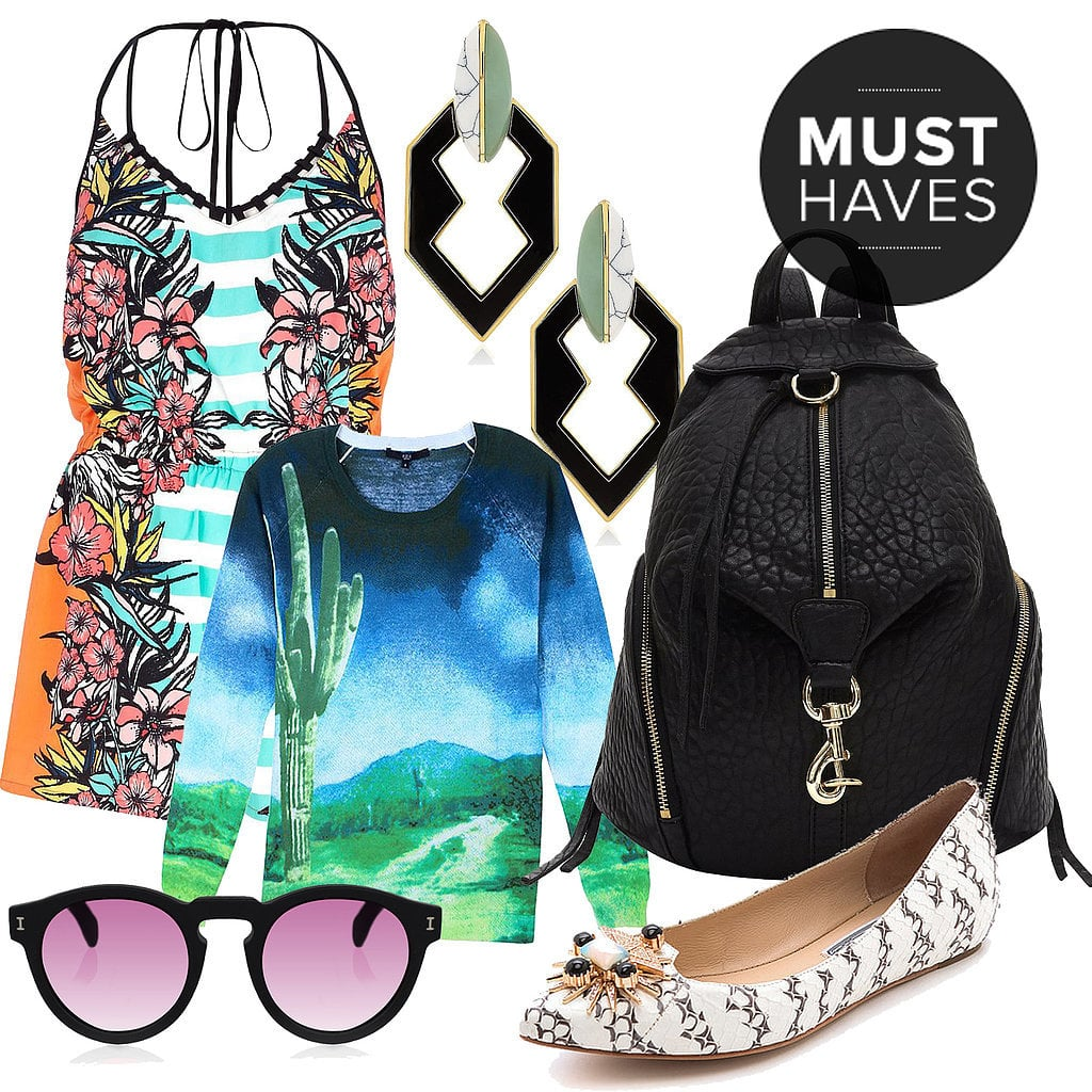 You know the old adage: April showers bring May flowers. It's been a long Winter, so don't take any rain checks on shopping. POPSUGAR Fashion has rounded up the best pieces to complete your Spring wardrobe, from Coachella-ready shirts and breezy pleated skirts to embellished flats and spunky open-toe heels.