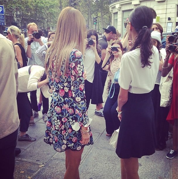What's it like to be a street style star in Paris? We took a look from the other side of the camera outside of Balmain, where Anna Dello Russo and Giovanna Battaglia were getting all snapped up. Source: Instagram user popsugarfashion