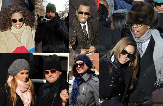 Photos of Jay-Z, Beyonce, Anne Hathaway at President Barack Obama's Inauguration