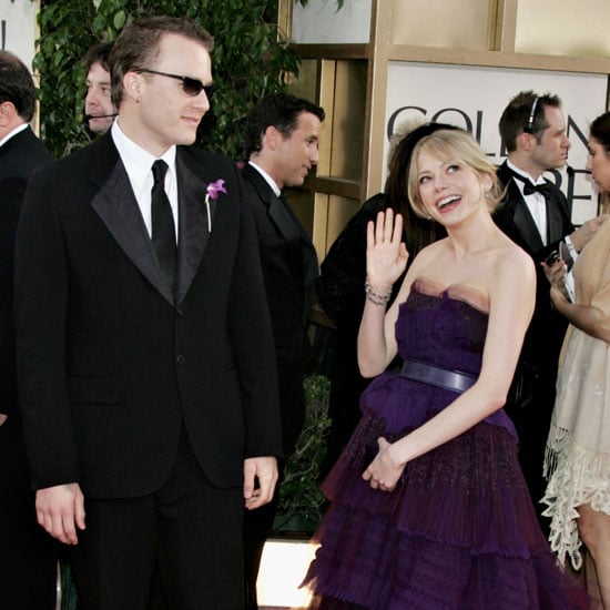 Heath Ledger and Michelle Williams walked the red carpet on their way into the show in 2006.