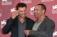 Tom Welling joked around with director Peter Landesman at the Venice Film Festival.