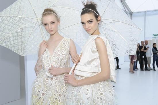 Spring 2012 Backstage Pictures: Alexander McQueen, Louis Vuitton, YSL, Stella McCartney, Giambattista Valli, Chloe, Valentino