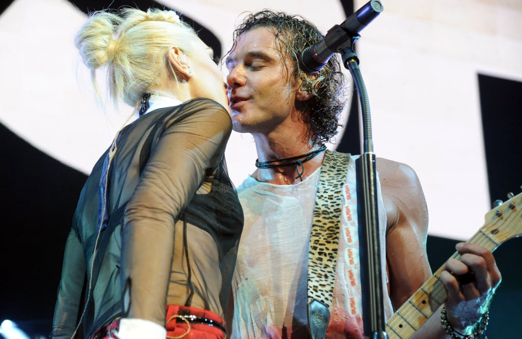 Gwen and Gavin Wrap Up a Surprise Show and a Family Weekend With a Kiss