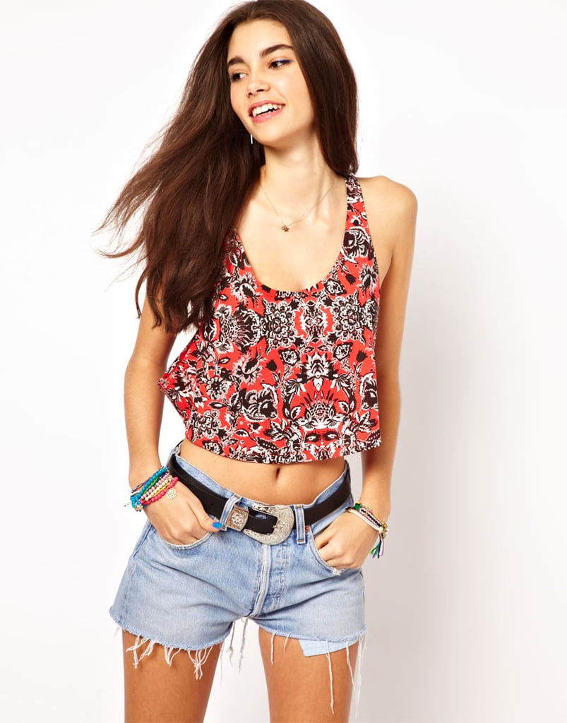 Want to show off a sexier side this Summer? Start with this ASOS Floral Crop Tank ($20).