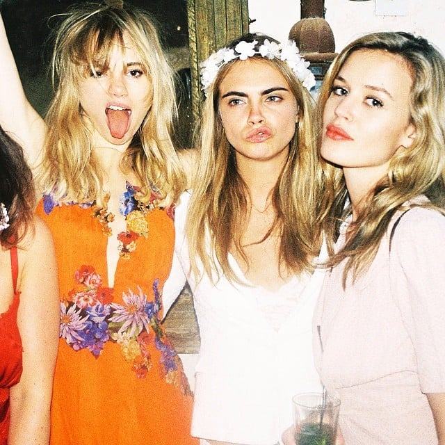 Suki Waterhouse and Cara Delevingne had fun together. Source: Instagram user caradelevingne
