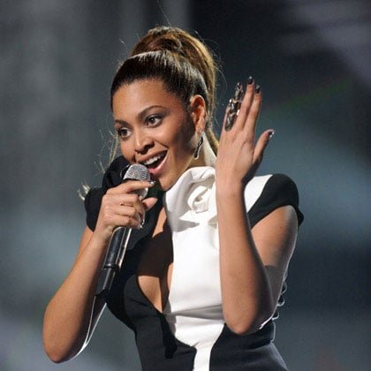 Beyonce Knowles at the American Music Awards