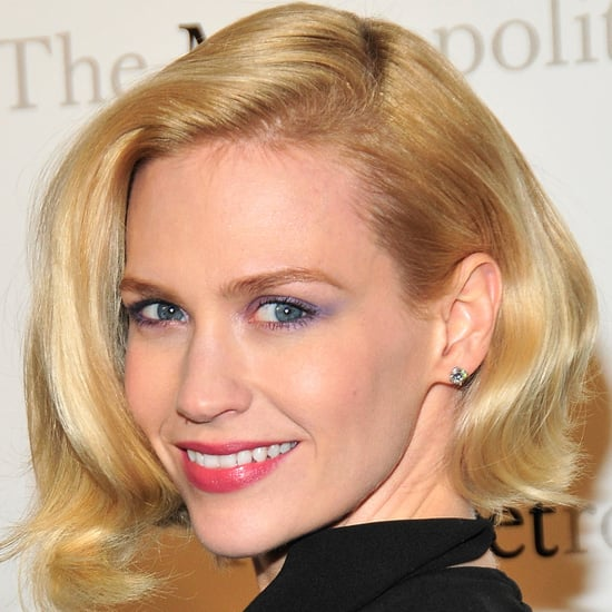 January Jones in Lavender and Pink Makeup