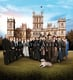 The cast of Downton Abbey posed together for their fifth season cast snap.