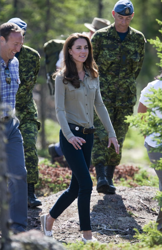 She donned jeans during a stop by Blachford Lake in Canada in July 2011.
