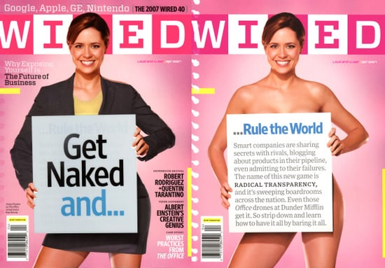 Jenna Fischer as Pam From The Office Gets Naked For Wired Magazine