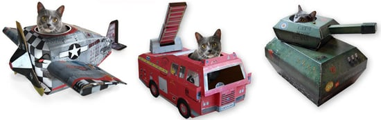 Cardboard Cat Playhouses