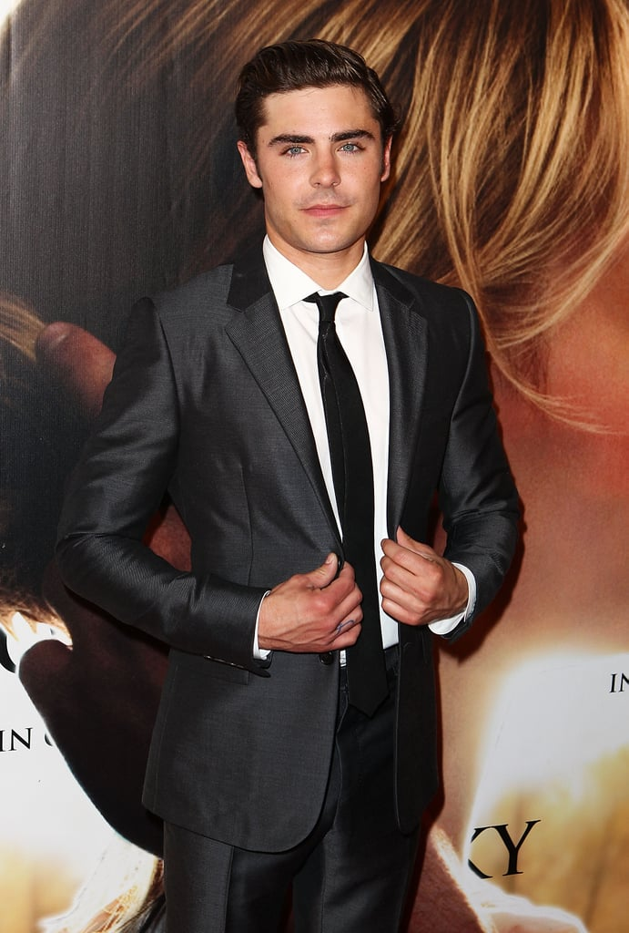 Zac Efron looked dapper in a suit at The Lucky One premiere in Melbourne.