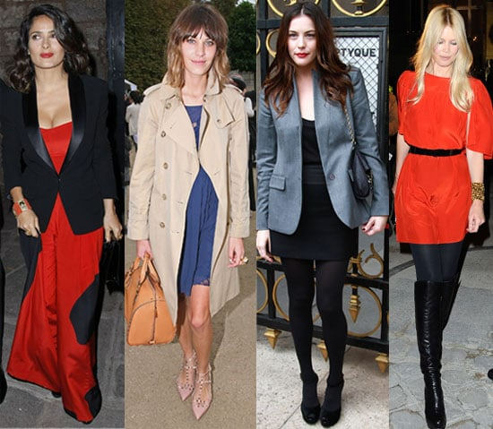 Pictures of Celebrities at Paris Fashion Week S/S 2011