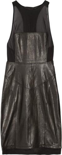 Alexander Wang Racer-back leather dress