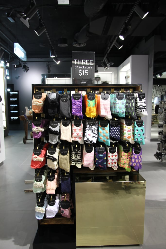 The cutest collection of socks we've seen in one place. Can be found in the accessories section on sub-level one.