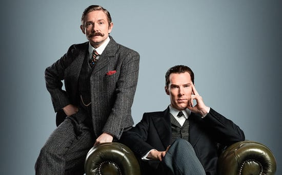 FROM EW: Sherlock Is (Almost) Back! New Photo Shows Dashing Benedict Cumberbatch and Martin Freeman