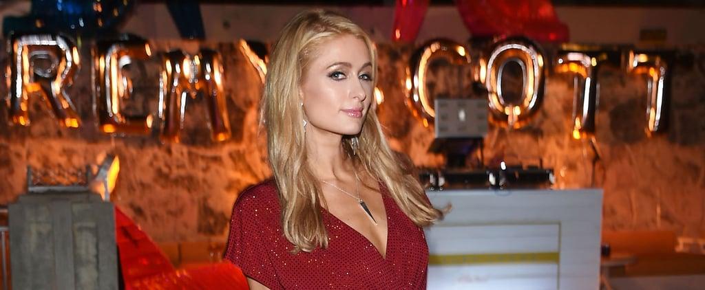 Paris Hilton Rocks a Strappy Red Bikini on Her France Vacation