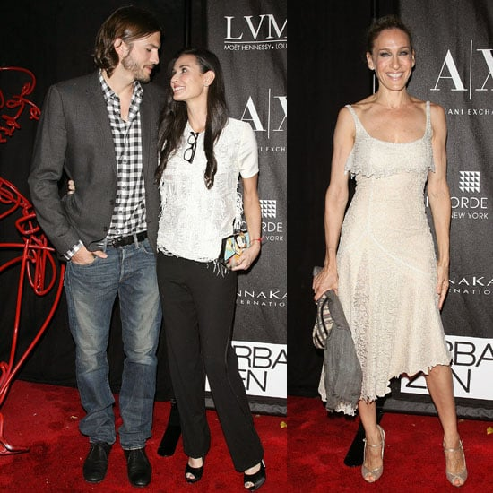 Sarah Jessica Parker Pictures at a Party With Ashton Kutscher and Demi Moore