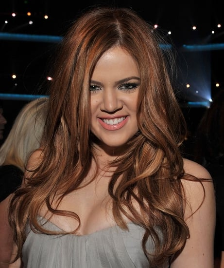 Khloe Kardashian Red Hair at 2011 People's Choice Awards