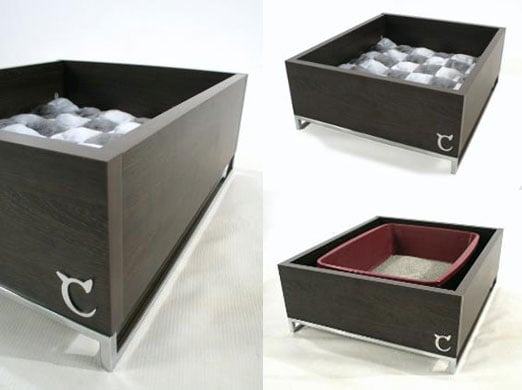 Chic Litter/Bed Combo from Modern Cat Designs