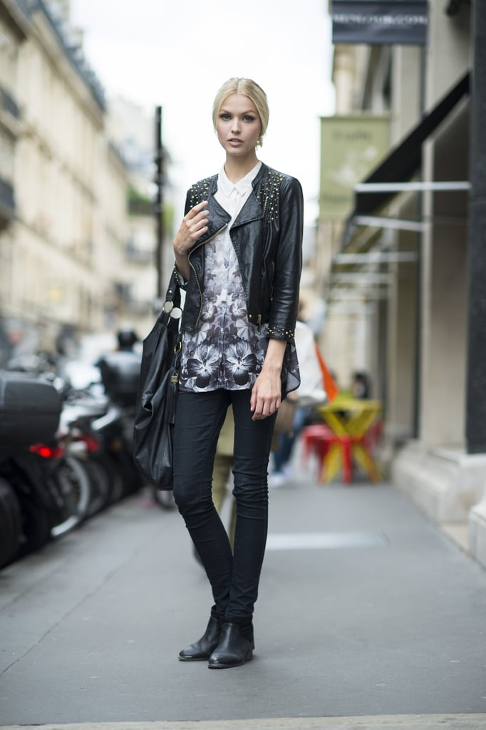 Some things, like classic black skinnies and a sharp jacket, never go out of style. Source: Le 21ème | Adam Katz Sinding