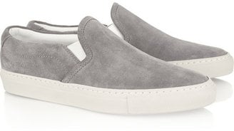 Casual weekend wear is easily elevated by these Common Project Suede Sneakers ($380), a favorite of celebs. — Kim Timlick, director of POPSUGAR international
