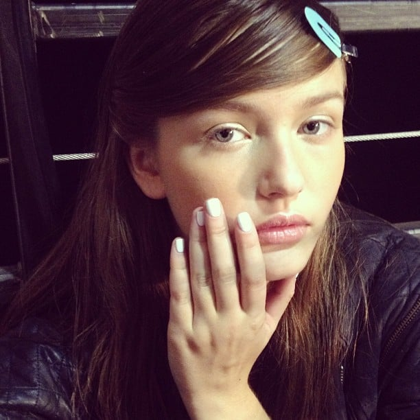Well, it's official: white nails are a trend again for Spring 2014, as seen on the Band of Outsiders runway.