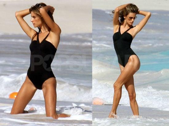 Photos of Alessandra Ambrosio at a Victoria's Secret Bikini Photo Shoot