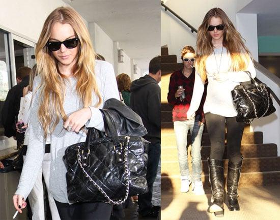 Photos of Lindsay Lohan and Samantha Ronson Smoking in LA