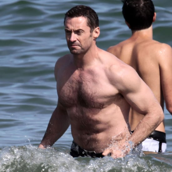 Shirtless Hugh Jackman Vacations in Barcelona Pictures
