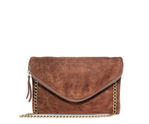 J.Crew Shimmer Leather Invitation Clutch ($138)