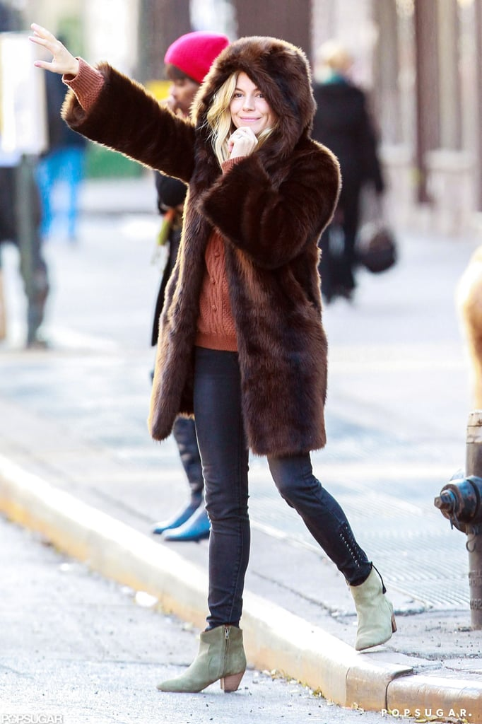 Sienna Miller Keeps Cozy in the Big Apple