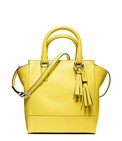 Coach's Leather Tanner ($258) in a sunny yellow color will quite literally light up my look. Even in the awkward transitional weather, I can kick-start Spring a little early with this bag in tow. — Hannah Weil, Style & Trends associate editor
