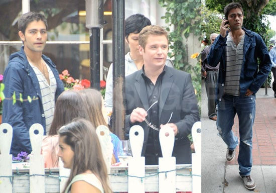 Pictures of Adrian Grenier And Kevin Connolly Filming Entourage in LA